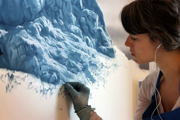 And all done by hand? - The Only Thing More Beautiful Than This Iceberg Is What You See Upon A Closer Look. Amazing!