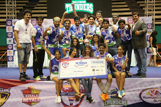 Tollywood Thunders wins the finals of the Celebrity Badminton League at Malaysia.
