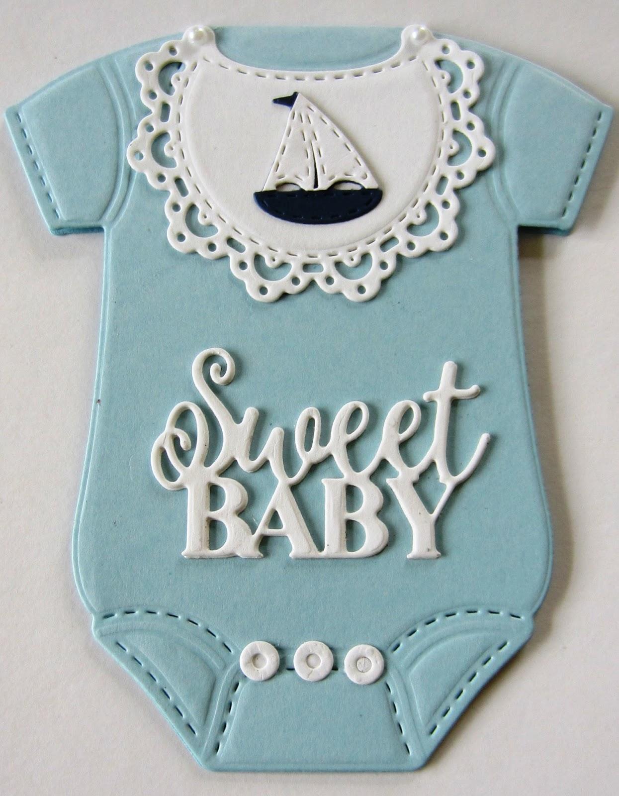baby onesie card  particraft participate in craft