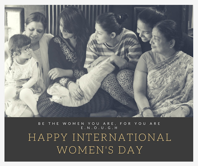Blog Shopping, Style and Us used a picture, one of the latest clicks, to wish its readers and followers a very happy #WomensDay .  This picture has all womens that belong to the family from age 56 to 3 years old.