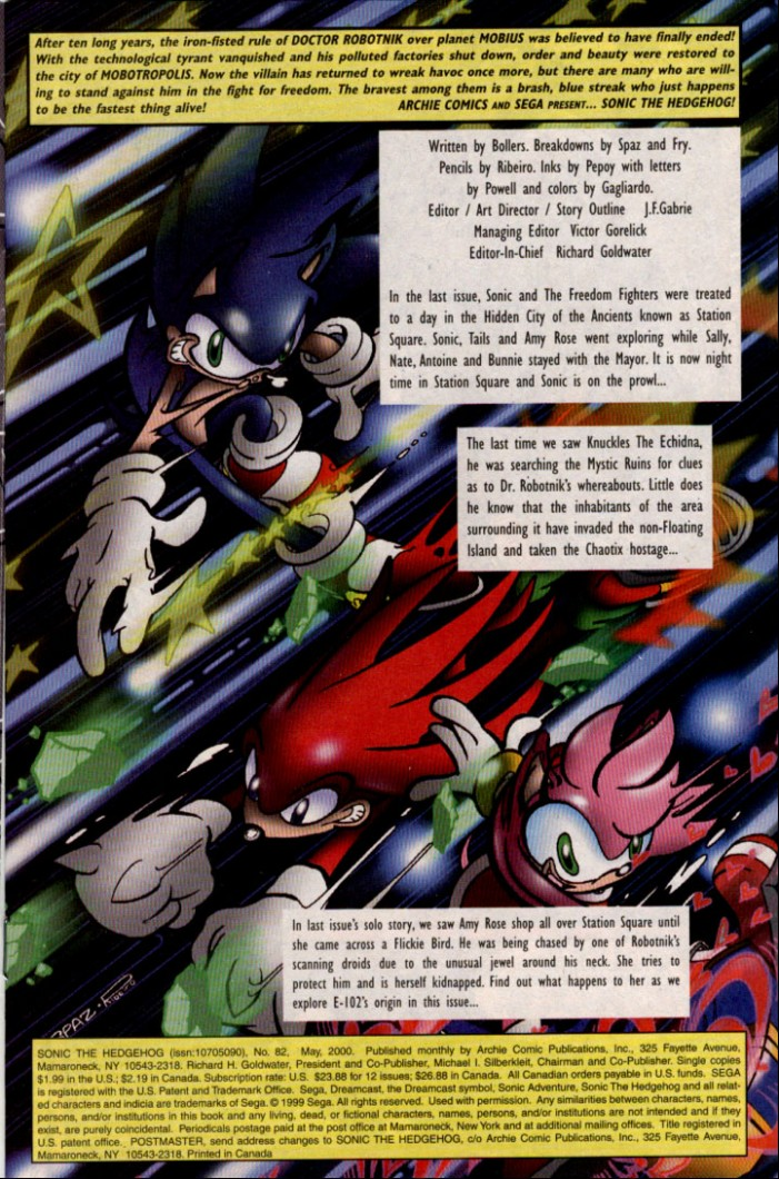 Read online Sonic The Hedgehog comic -  Issue #82 - 2