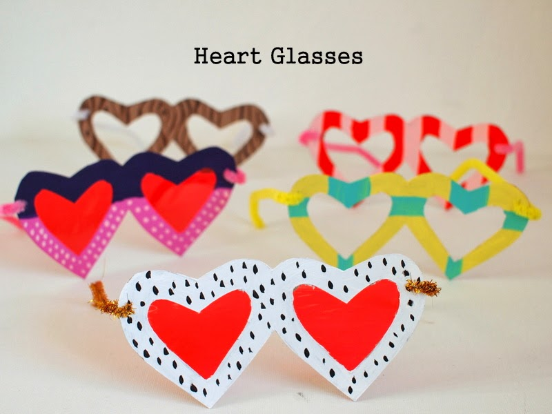DIY Heart Shaped Glasses