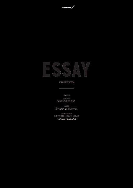 ESSAY AUTUMN WINTER 2016 / AW16 / FASHION BRAND - DESIGN LABEL  /  TOKYO JAPAN  /