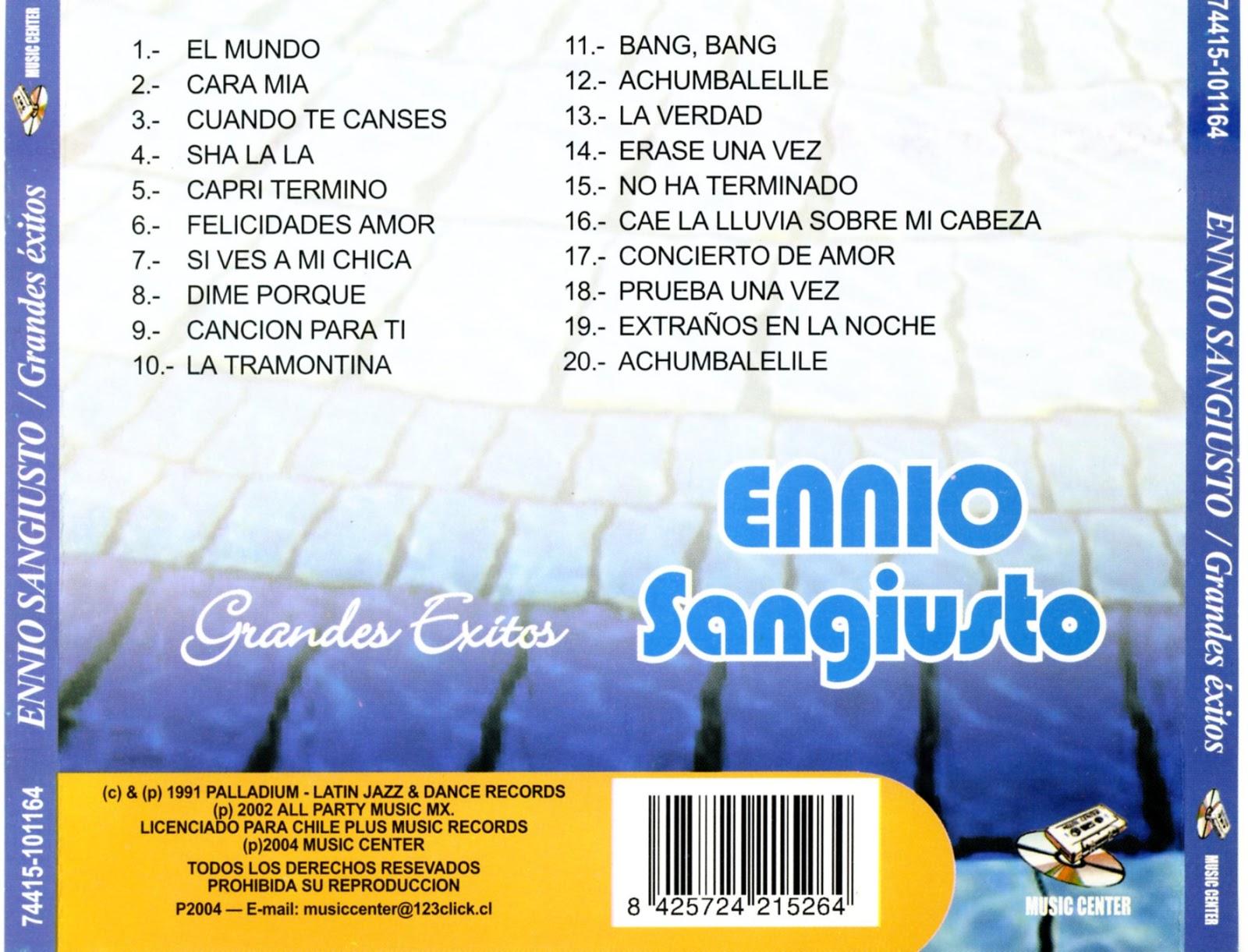 Ennio Sangiusto - Amigos Mios-Prima O Poi-Comenzamos A Querernos-Despues Vendra El Otoño