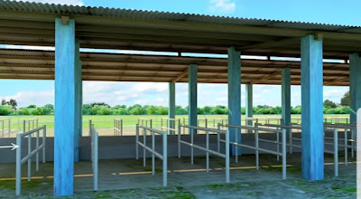 Dairy farm shade design