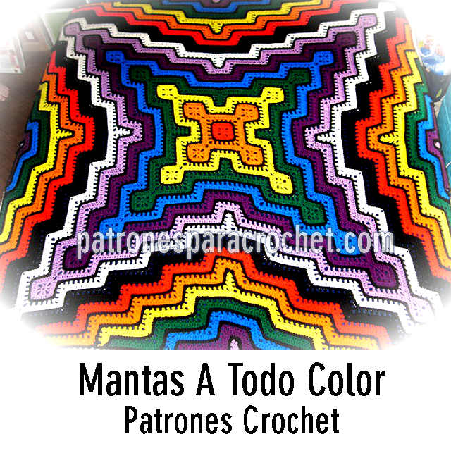 patrones de mantas crochet
