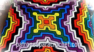 Patrones de mantas crochet / Paso a paso