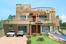 3d Front 1 Kanal House Villa Banglow