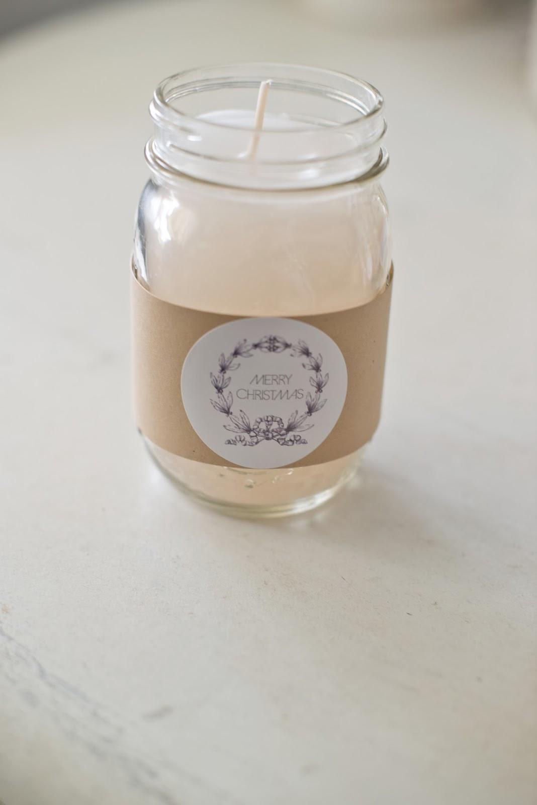 domestic fashionista diy canning jar candles tutorial gift label