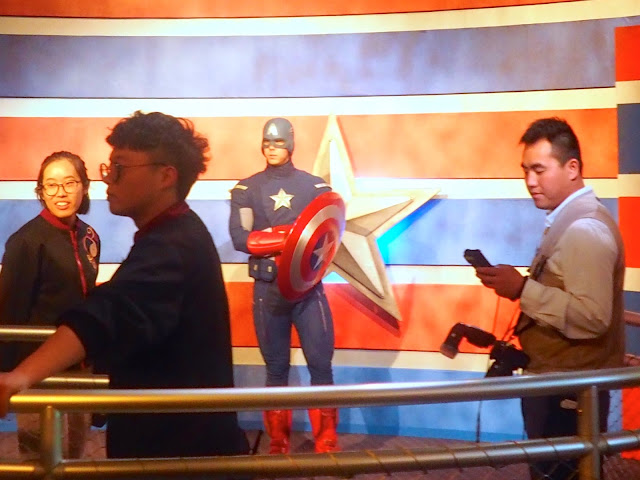 Captain America in the Marvel hall, Shanghai Disneyland, China