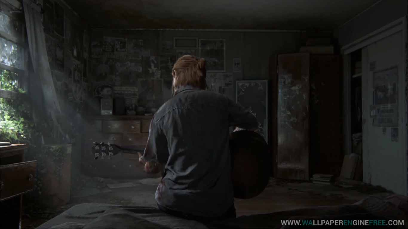 Download The Last Of Us Part Ii Ellie Guitar Solo 1080p Wallpaper