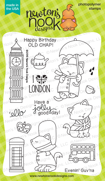 Newton Dreams of London 4 x 6 Cat Stamp set | Newton's Nook Designs #newtonsnook