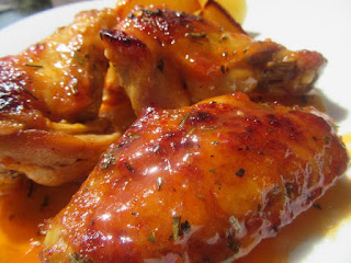 Chicken wings baked in a marinade