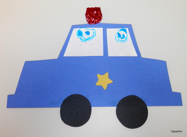 police badge template for preschool - police car craft template the image kid