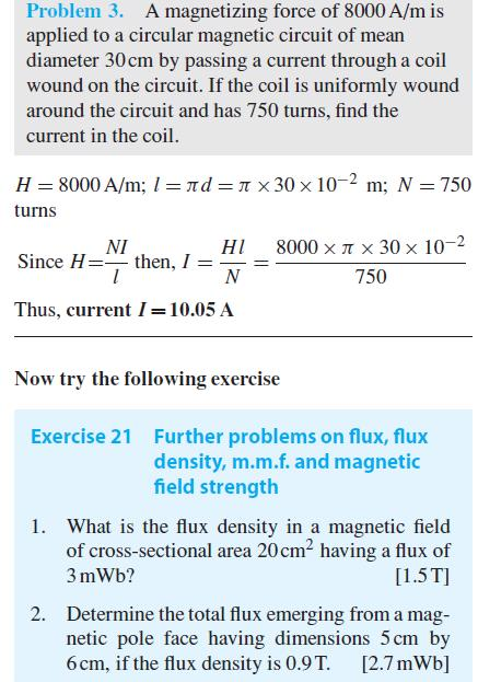 Magneto motive force and magnetic field strength ~ Basic
