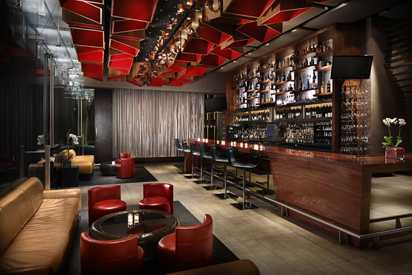 The Indoor Lounge Has A Stunning Red Granite Bar And Low