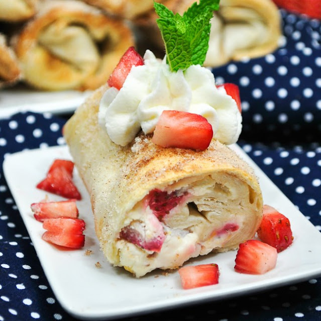 Cheesecake Taquitos #easy #desserts