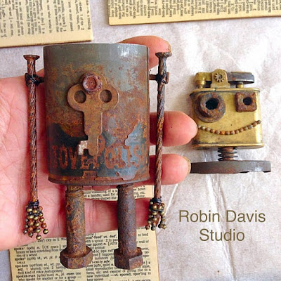 Working on this robot I named Flicker - Robin Davis Studio