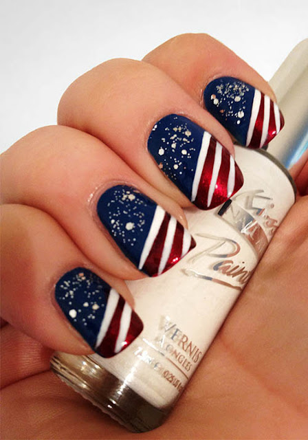 4th of july nail art youtube