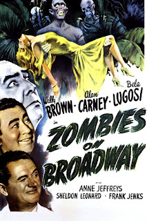 Póster película Zombies en Broadway