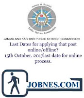 Jammu and Kashmir Public Service Commission Recruitment 2017 for 22 various posts  apply online here