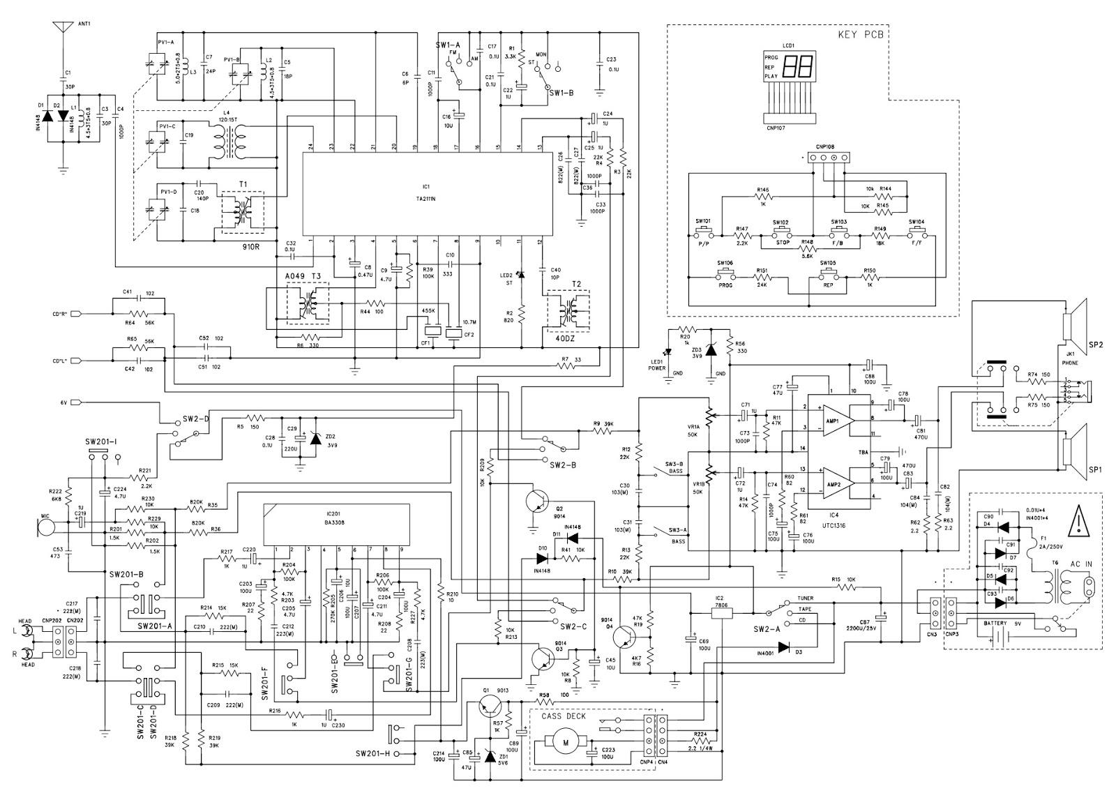 Silva Schneider PCD136 circuit diagram