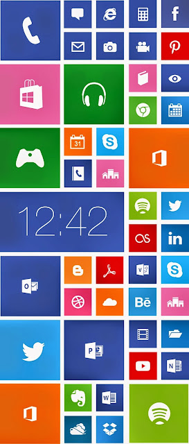 Windows phone - Widgets vectorizados gratis