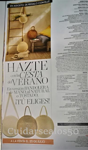 Regalo agosto Revista Elle
