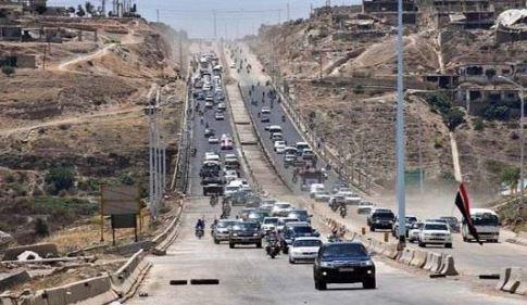 بعد 7 سنوات,افتتاح أوتستراد حمص حماة الدولي أمام حركة النقل للعموم(فيديو)