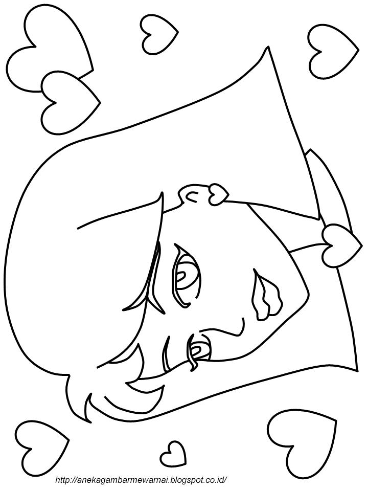 Gambar Mewarnai Perempuan Cantik Untuk Anak PAUD dan TK 2