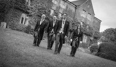 black and white groomsmen picture