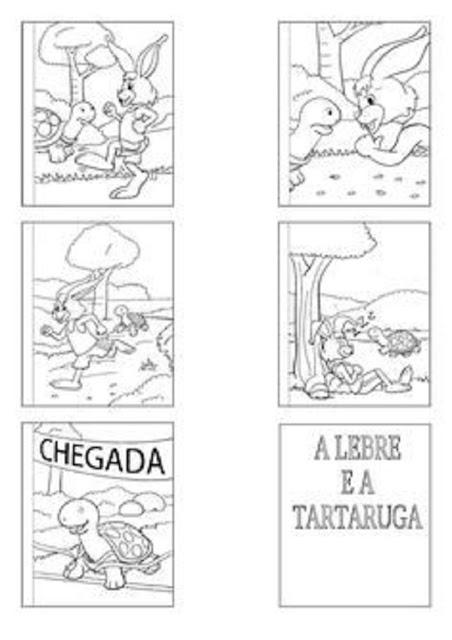 """Fábula """"A Lebre e a Tartaruga"""""""