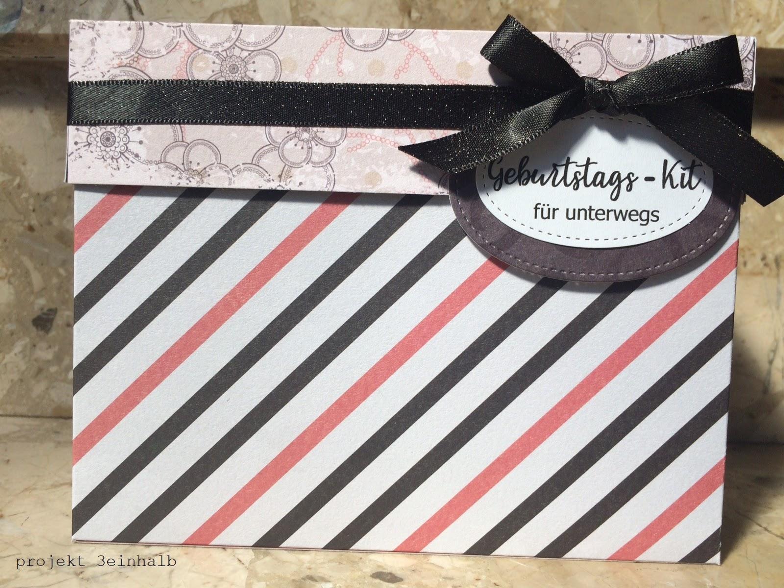 Heute zeige ich euch nämlich auf unserem Teamblog KLICK ein Geburtstags Kit für unterwegs