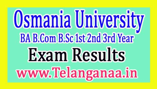 OU Degree BA B.Com B.Sc 1st 2nd 3rd Year Supply Result