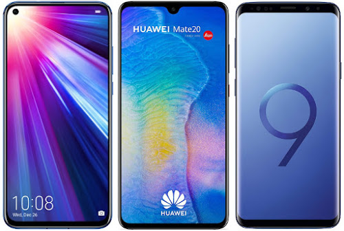 Honor View 20 vs Huawei Mate 20 vs Samsung Galaxy S9 Plus