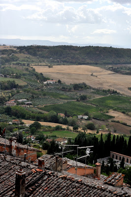 The View from Osteria del Borgo in Montepulciano, Italy - Photo by Taste As You Go