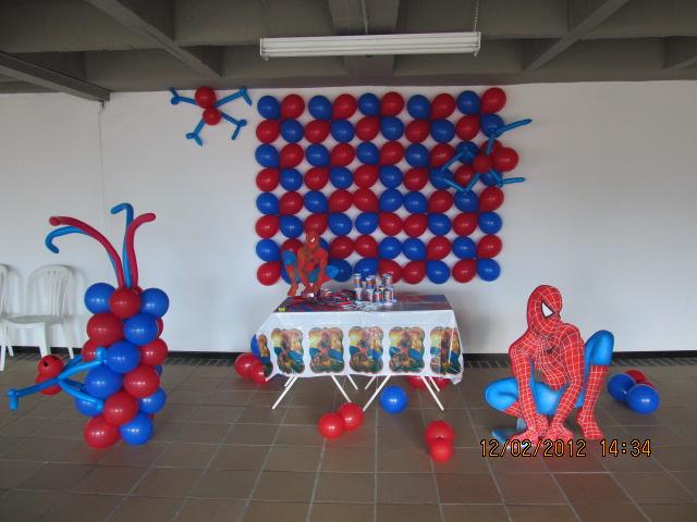 Decoracion hombre ara a spiderman fiestas infantiles y recreacionistas medellin Adornos sencillos para cumpleanos infantiles