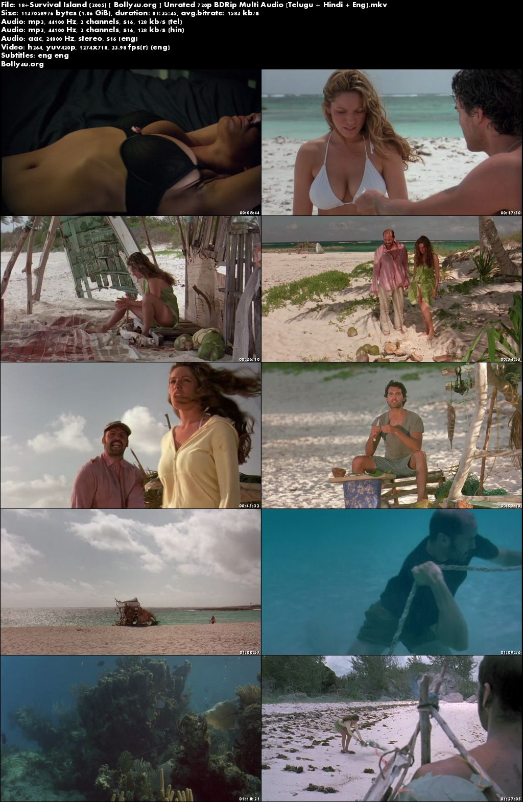 [18+] Survival Island 2005 BDRip 480p Multi Audio 400Mb Hindi Download