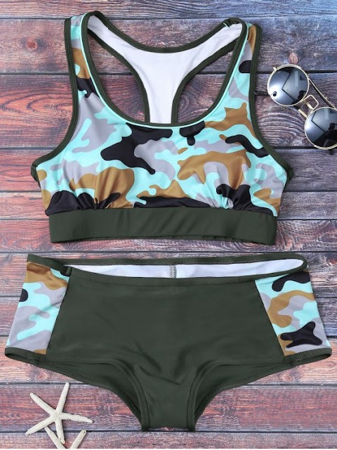 Army Green Bikinis and Other Swimsuits