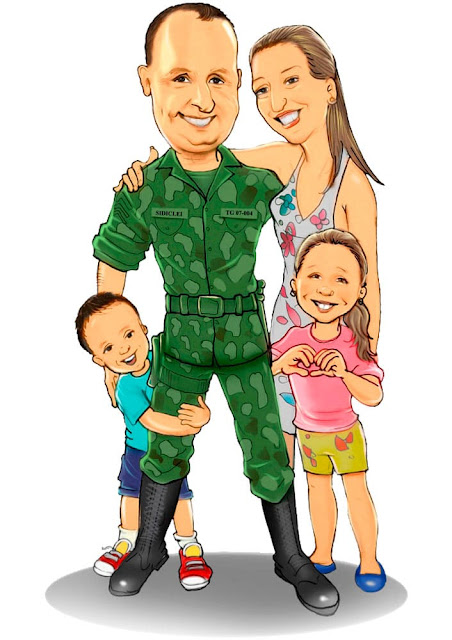caricaturas de famílias
