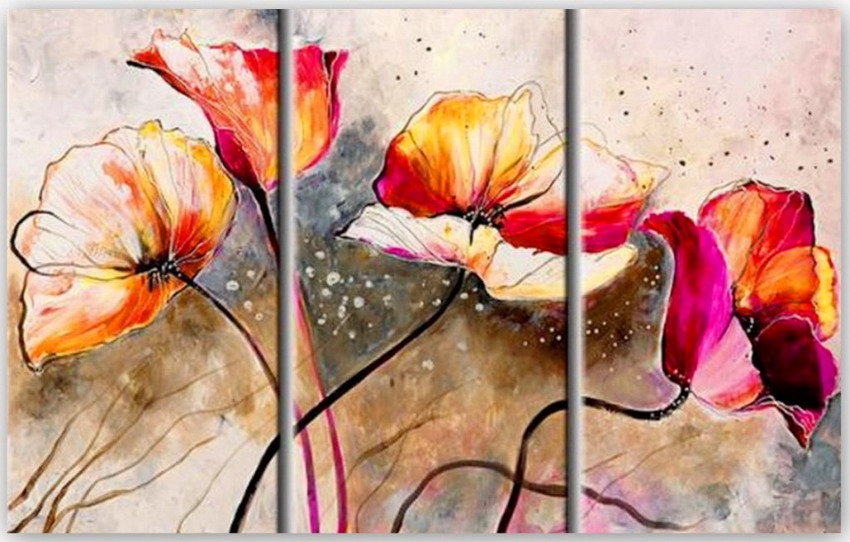 Im genes arte pinturas pinturas abstractas de cuadros tr pticos modernos - Como pintar cuadros faciles ...