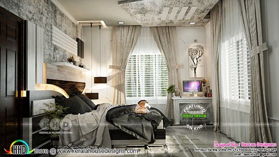 Bedroom 2 interior rendering