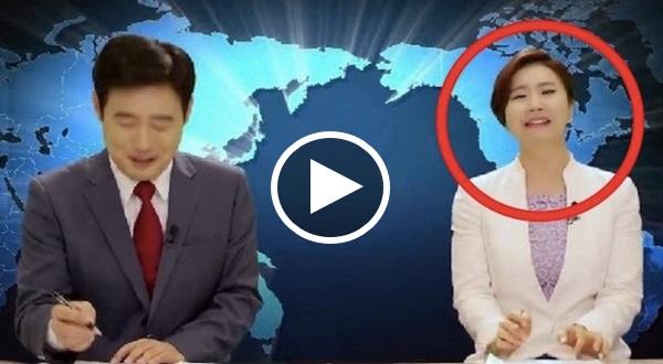 Pembaca Berita Korea Ni Tiba2 TERGELAK Masa Live. Puncanya Buat Ramai Turut KETAWA !!!