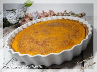 Recette de tarte sucrée à la citrouille sans gluten sans lactose