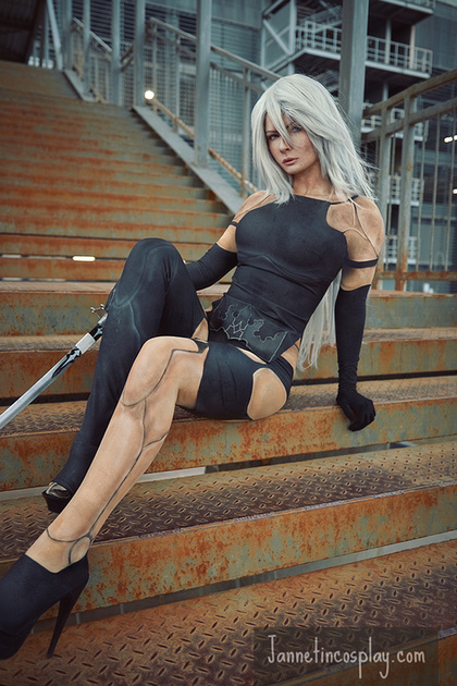 jannet vinogradova sexy a2 from nier: automata cosplay 02