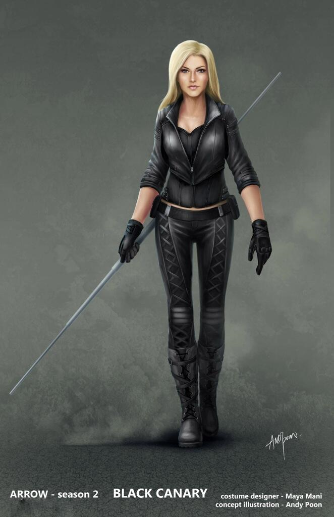 Dynamic ARROW Black Canary and Bronze Tiger Concept Art by ...