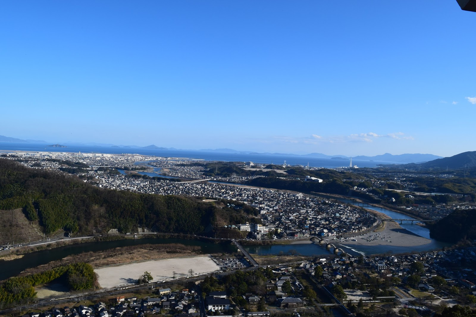 view from Iwakuni castle