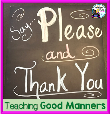 Say Please and Thank You chalkboard message
