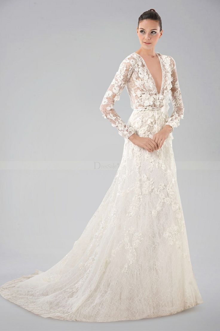 Long Sleeve Wedding Dresses Vera Pinterest Lace