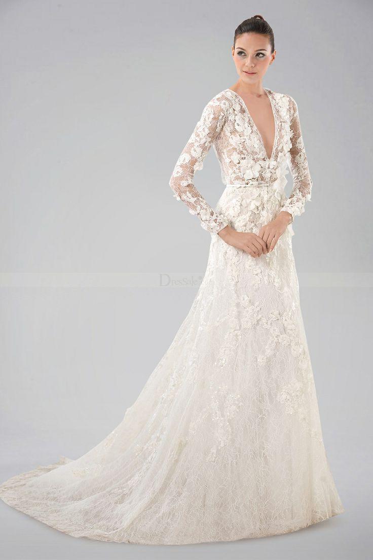 f824a64f2c5dc Vera Wang White Short Sleeve Lace Wedding Dress